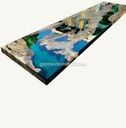 Green Resin River Epoxy Acacia Wooden Dining Big Center Table Outdoor Furniture