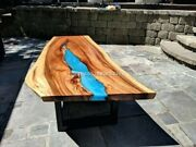 Resin Dining And Coffee Table Premium Quality Handcrafted Acacia Wood Personalized