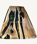 Premium Quality Walnut Wood Large Dining Table Epoxy Resin Table For New Home