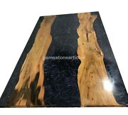 River Dinning Table Top Acacia Wood Style Natural Epoxy Art Outdoor Table Décors