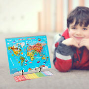 Geography Puzzles Development Educational Fun World Map Building Block Toy