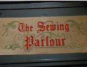 The Sewing Parlour Victorian Motto Punched Paper Kit To Stitch,