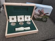 3 Coins .999 Silver - Ducks Of Canada - Hunting Coins 10000 2013 + Duck Call
