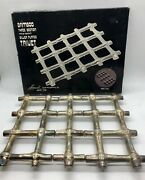"""Silver Plated Bamboo Three Section Trivet - Mcm - """"leonard"""" Brand, Made In Italy"""