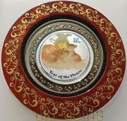2008 Australia Lunar Ii Year Of The Mouse Rat 1oz Silver Color Coin Rare Edition