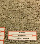1 Jukebox Title Strips Gary Allan Country The One Iand039m Doin My Best 45