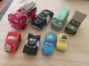 Disney Cars Diecast 143 Red + Sheriff 155 Dusty + Sarge + Mini Adventures Lot