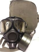 M40 Gas Mask Small With 2nd Skin Filter And Bag J14