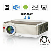 Android Projector 1080p Blue-tooth Home Theater Wifi Cinema Airplay Online App
