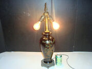 Extending Working Chinese Vintage Accent Table Lamp Asian Oriental Porcelain