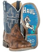 Tin Haul Boysand039 Rough Stock Western Boot - Square Toe - 14-018-0077-0815 Br