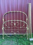 Antique Victorian Iron Bed Framedouble Full Gold. Pickup Cleveland West