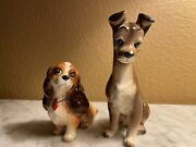 Vintage Disney Lady And The Tramp Porcelain Figurines