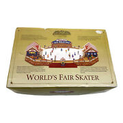 Mr. Christmas Gold Label Collection World's Fair Skater As Is See Video