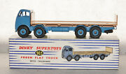 Dinky Toys 903 Foden Flat Truck Blue / Fawn Mint Boxed Original Rare
