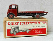 Dinky Toys 512 Guy Flat Truck Ist Type Cab Maroon Very Near Mint Boxed Original
