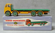 Dinky Toys 902 Foden Flat Truck Yellow / Green Near Mint Boxed Original