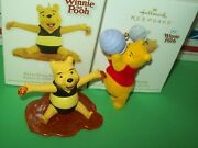 Hallmark Lot Everything Is Honey And Hoping For Hunny Pooh Bear 2011-12 Ornaments