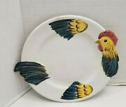 4 Italy Pv Salad Dessert Plates Cut Out Shape Chicken Rooster Kitchen Decor