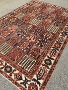 Antique Garden Bakhtiari Hand-knotted Area Rug Wool Oriental 6and0397x10and039carpet