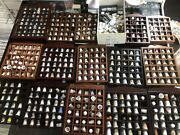 Collection Of 650+ Porcelain And Metal Thimbles