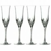 Waterford Lismore Essence Champagne Flute Set Of 4