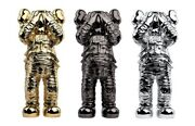 Kaws Holiday Space Figure Gold/black/silver Set Inhand