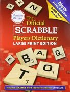 Official Scrabble Players Dictionary New 5th Large Print Edition Paperback 2014