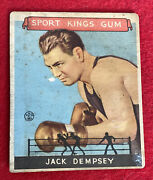 Jack Dempsey 1933 Goudey Sports King 17. Poor To Fair. Free Shipping