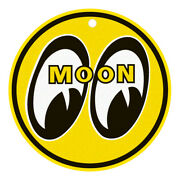 Moon Eyes Porcelain Drag Racing Vin Round Aluminum Metal Sign With Mounting Hole