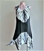 Sale India Boutique Uneven Hem Sleeveless Short Dress / Cover Up One Size, Nwt