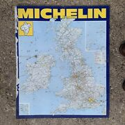 Vintage 1970s Large Metal Michelin Garage Forecourt Advertising Map Sign 2ft 11