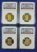 2012 S Ngc Pf69 Ultra Cameo Presidential Dollar Four Coin Proof Set