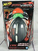 New Nerf Firevision Sports Football W/2 Headsets Lights Out Game On Hasbro