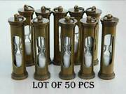 Brass Antique Sand Timer Key Ring Marine Nautical Collectible Lot Of 50 Pcs