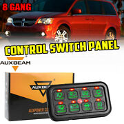 Auxbeam 8 Gang Control Switch Panel Kit Fit Toyota Dodge Ford 4x4 Truck Green