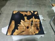Epoxy Table Outdoor Furniture Vivid Edge Epoxy Wood Resin Center Office Table