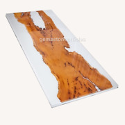 Custom Epoxy Table White Acacia River Dining Table Epoxy Resin Table Wood Deco