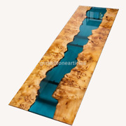 Epoxy Blue Clear River Big Conference Office Meeting Table Acacia Office Dandeacutecors