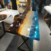 Acacia Ocean River Customize Dining Table Epoxy Furniture As Per Request Decors