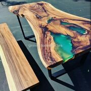 Handmade Table Magg Wood Epoxy Resin Dining Kitchen Table Home Design Decor