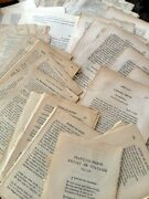 100 Antique French Book Pages, Dating From 1825/1875/1929. Ephemera Paper Pack.