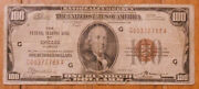 Series 1929 100 Federal Bank Of Chicago Brown Seal National Currency Note.