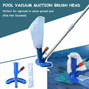 Swimming Pool Vacuum Set Cleaner Brush Head Tool Tub Fountain Spa Pond Cleaning