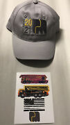 2021 World Of Concrete Putzmeister Baseball Cap Hat And Stickers Decals New Promo
