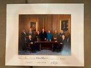 Rare Signed Us Supreme Court Informal Group Photograh Justice Thomas Appointment