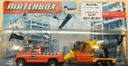 Matchbox Hitch And Haul - Construction Kings - Pick Up And Digger On Trailer