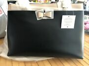 Brand New Kate Spade Baldwin Street Maryanne Leather Tote Bag Black And Beige Bow