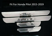 Stainless Steel Outer Door Sill Scuff Plate Cover Fit For Honda Pilot 2015-2021