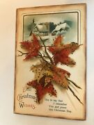 Best Christmas Wishes I Remember You Christmas Day Fall Leaves Postcard
